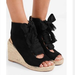 37964bf8822 Chloe Wedge Lace-up Suede Espadrilles!